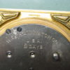 Waltham Vintage 8-Day Art Deco Gilt Brass Desk/Table Clock, Handpainted Dial
