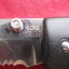 Vintage Air SOG Folding Lockback Knife Seki Japan, Serrated Edge