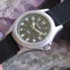 Mallard JB-W24B Ladies Stainless Steel Combat Wrist Watch, Black Face, NEW