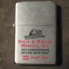 Zippo Lighter 1971 Advertising Pence & Denney Masonry Dayton OH