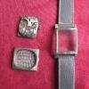 Gruen Curvex Vintage White Gold Deco Wrist Watch, Diamond dial