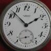 Longines Express Monarch 21jl 16s Sterling Silver Railroad Pocket Watch