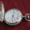 Antique Hampden Springfield MA 18s Pocket Watch, Coin Silver Hunting Case