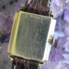 Lord Elgin Vintage 14K Gold Wrist Watch, Step Down Case Design, ca. 1950s
